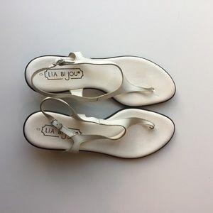Lia Bijou Shoes - White Lia Bijou sandals d830fb1fd51b